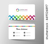 business card. inspiration form ... | Shutterstock .eps vector #669526897