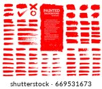 painted grunge stripes set. red ... | Shutterstock .eps vector #669531673