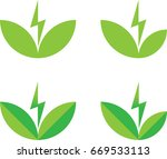 clean energy icon set   green... | Shutterstock .eps vector #669533113