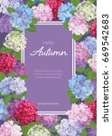 vintage floral frame with... | Shutterstock .eps vector #669542683