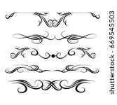 decorative monograms and... | Shutterstock .eps vector #669545503