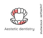 aesthetic dentistry. tooth or... | Shutterstock .eps vector #669566947