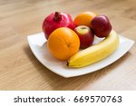 Ripe Fruits On A Plate