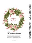 wedding card or invitation with ... | Shutterstock .eps vector #669580903