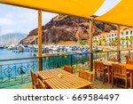 restaurant terrace in sailing...   Shutterstock . vector #669584497
