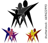 success people icon. set of... | Shutterstock .eps vector #669622993