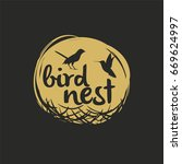 bird nest vector logo design. | Shutterstock .eps vector #669624997