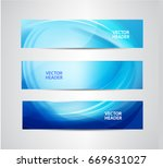vector set of abstract blue... | Shutterstock .eps vector #669631027