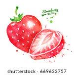 watercolor illustrations of... | Shutterstock . vector #669633757