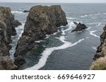 Small photo of rocks at Belle-Ile in France