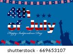 4th of july united states of... | Shutterstock .eps vector #669653107