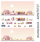 isometric icon set representing ... | Shutterstock .eps vector #669670717