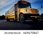 Blurred Yellow School Bus
