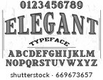 font.script.typeface.vector.old ... | Shutterstock .eps vector #669673657