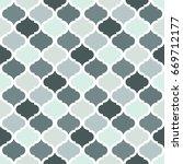 geometric trellis pattern. grey ... | Shutterstock .eps vector #669712177
