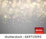 bokeh lights. vector... | Shutterstock .eps vector #669715093