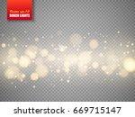 golden bokeh lights with... | Shutterstock .eps vector #669715147