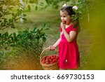 Cute Little Girl Posing With...