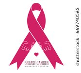 breast cancer campaign graphic... | Shutterstock .eps vector #669740563