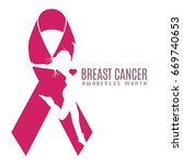 breast cancer campaign graphic... | Shutterstock .eps vector #669740653