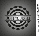 do it yourself realistic black... | Shutterstock .eps vector #669742273