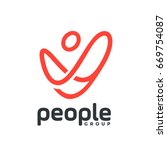 people goup logotype the logo... | Shutterstock .eps vector #669754087