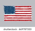 48 star american flat flag ... | Shutterstock .eps vector #669787333