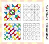 worksheet for preschool kids.... | Shutterstock .eps vector #669805447