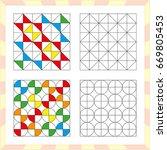 worksheet for preschool kids.... | Shutterstock .eps vector #669805453