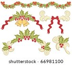 vintage christmas elements for... | Shutterstock . vector #66981100
