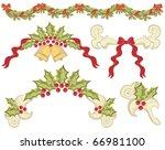 vintage christmas elements for... | Shutterstock . vector #66981100
