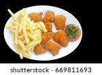 fried chicken nuggets and... | Shutterstock . vector #669811693