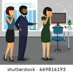 rude boss threatening and... | Shutterstock .eps vector #669816193