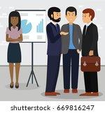 business woman standing aside... | Shutterstock .eps vector #669816247