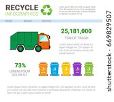 recycle infographic banner... | Shutterstock .eps vector #669829507
