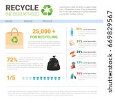 recycle infographic banner... | Shutterstock .eps vector #669829567