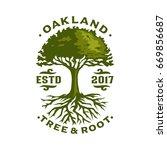 oak tree logo template | Shutterstock .eps vector #669856687