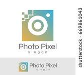 photo pixel initial letter o... | Shutterstock .eps vector #669861043