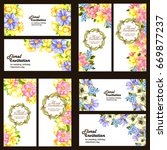 invitation with floral... | Shutterstock .eps vector #669877237