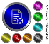 cancel document icons on round... | Shutterstock .eps vector #669902677