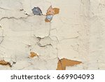 Small photo of Pink concrete wall with scratches and damages. Abstract background