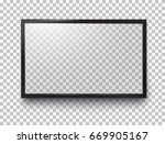 photo frame or black led... | Shutterstock .eps vector #669905167
