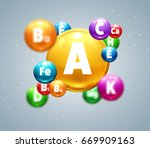 vitamins colorfull balls  | Shutterstock .eps vector #669909163