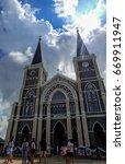 the beautiful church at...   Shutterstock . vector #669911947