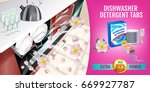 rose fragrance dishwasher... | Shutterstock .eps vector #669927787