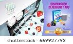 berries fragrance dishwasher... | Shutterstock .eps vector #669927793