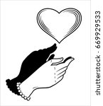 hands that try to catch a...   Shutterstock .eps vector #669929533