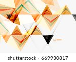 triangular low poly vector a4... | Shutterstock .eps vector #669930817