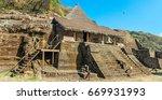 ruins in malinalco....   Shutterstock . vector #669931993