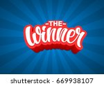 the winner lettering text... | Shutterstock .eps vector #669938107
